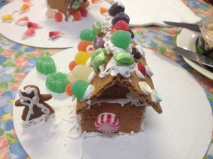Blitzen's gingerbread house